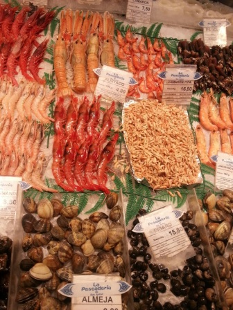 Madrid~the largest fish market outside of Tokyo.